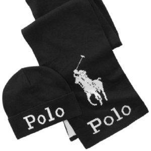 Polo Ralph Lauren Jacquard Hat & Scarf Set